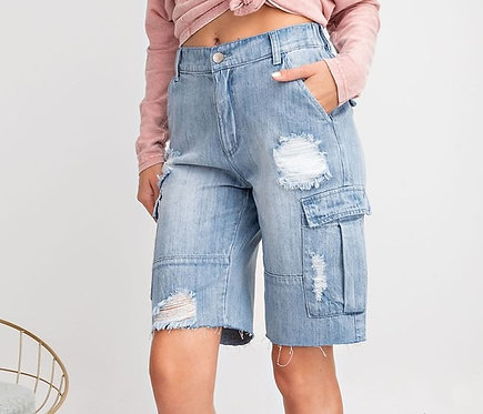 STEVIE CARGO BOYFRIEND SHORTS
