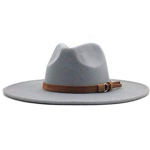 Wide Brim Gigi Hat - Gray