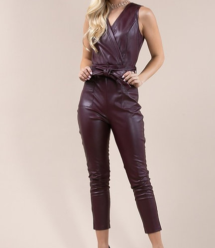 Val's Vegan Leather Jumpsuit
