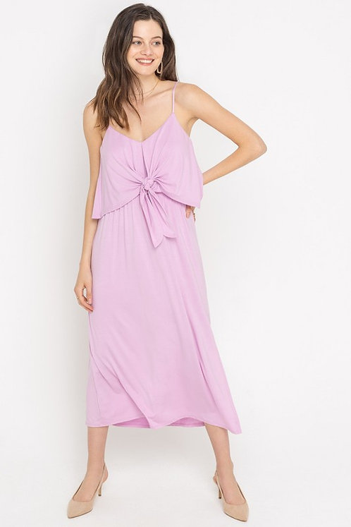 Tie front cami midi dress