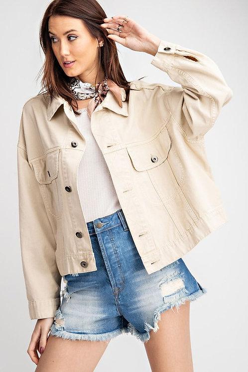 Khaki twill jacket
