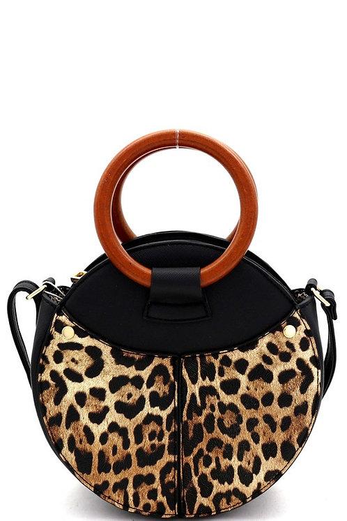 Leopard Print Handle Bag