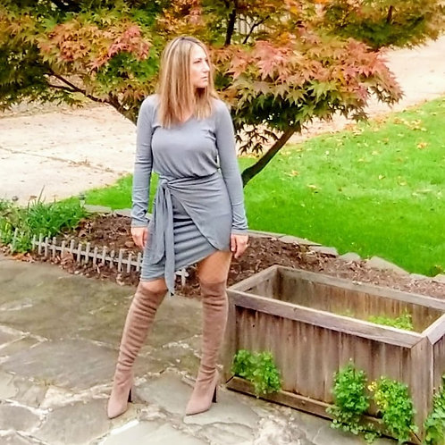 Ruched and Tied Dress