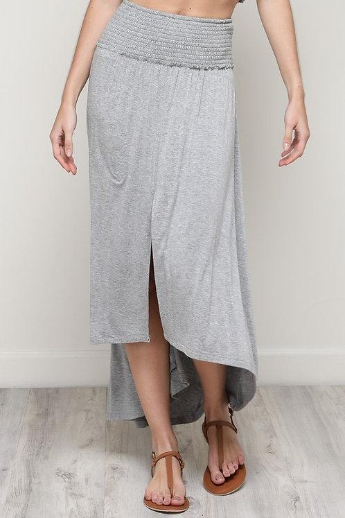 Rayon high/low skirt