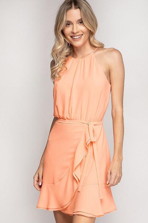 Cantaloupe Ice Halter Dress