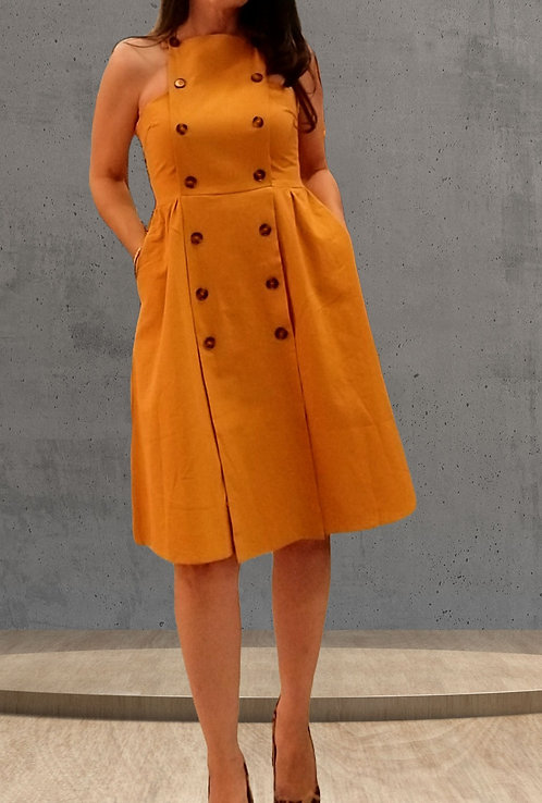 Sunflower apron dress