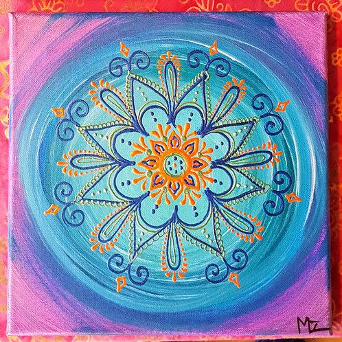 Blue Mehndi Mandala