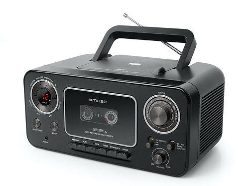 MUSE M-182 RDC RADIO REGISTRATORE CASSETTE STEREO LETTORE CD PILE CORRENTE