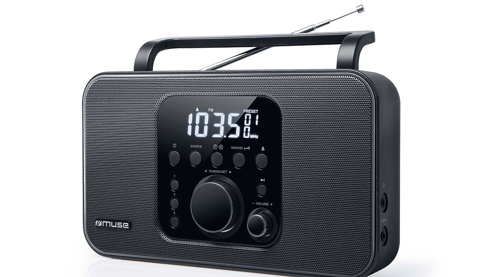 MUSE M-091R Radio Sveglia Stereo Portatile FM-AM Display Digitale