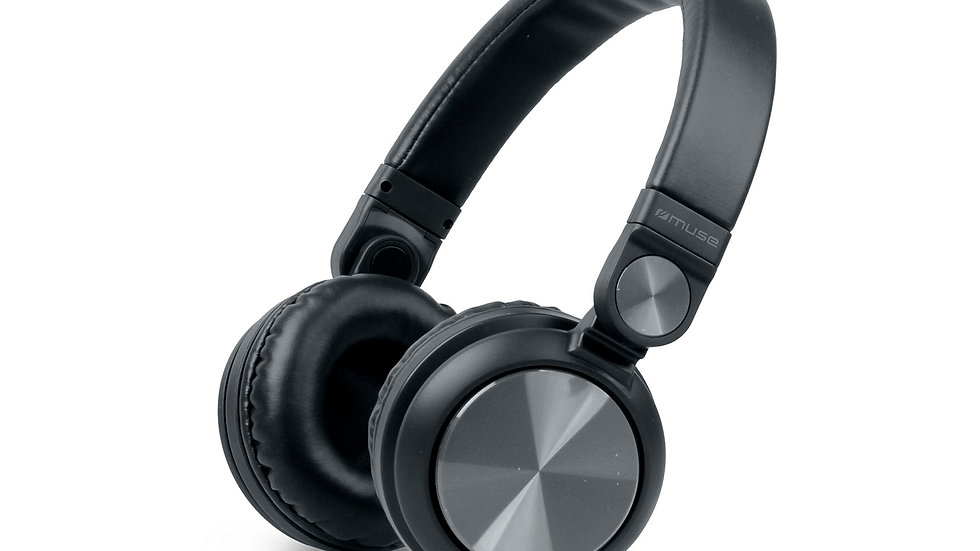 MUSE M-276 BT Cuffie Bluetooth Black On-Ear Wireless o con Cavo, Microfono