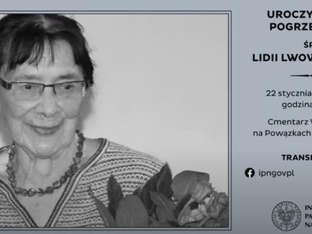 """Uroczystości pogrzebowe śp. płk Lidii Lwow-Eberle ps. """"Ewa"""""""