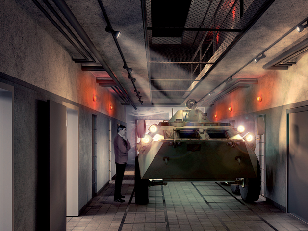 Milicyjny transporter BTR