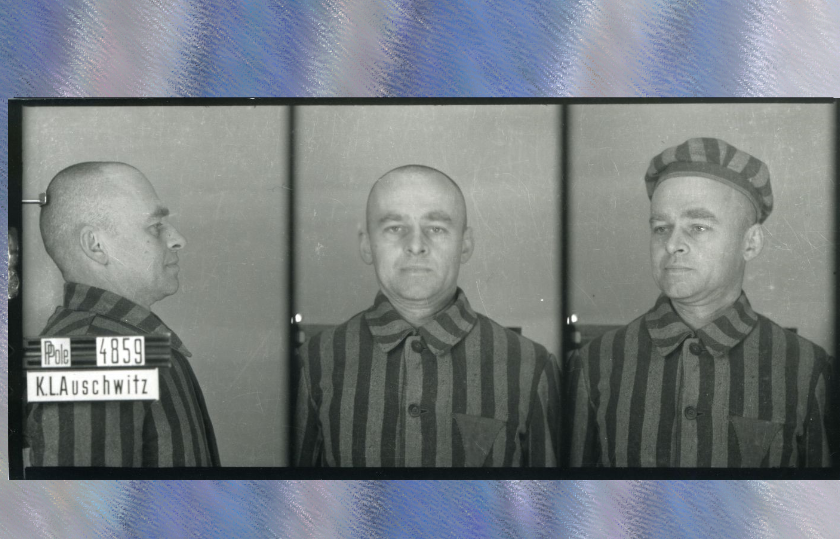 Witold Pilecki w Auschwitz jako Tomasz Serafiński więzień nr. 4859, Fot. Archiwum Państwowego Muzeum Auschwitz-Birkenau