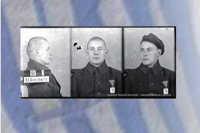 Otto Küssel więzień nr. 2 zdjęcie sygnaliczne, Fot. Archiwum Państwowego Muzeum Auschwitz-Birkenau