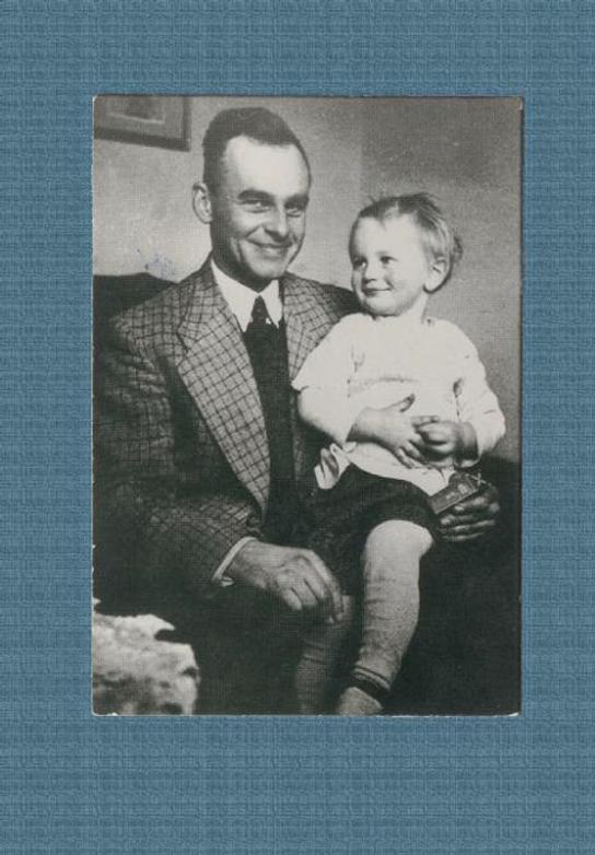 Witold Pilecki z Markiem Ostrowskim ok. 1940 r. Zbiory M. Ostrowskiego