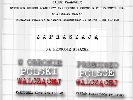 Promocja książki o działaniu wywiadu komunistycznego na Rakowieckiej 37