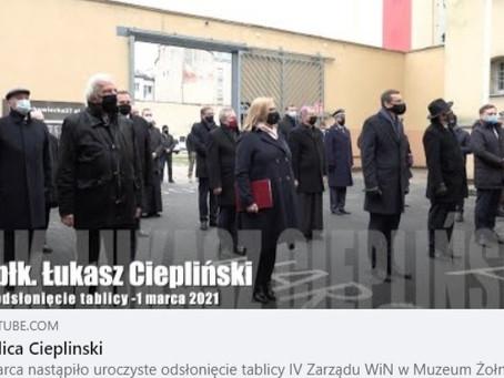1 marca w Muzeum Żołnierzy Wyklętych i Więźniów Politycznych PRL