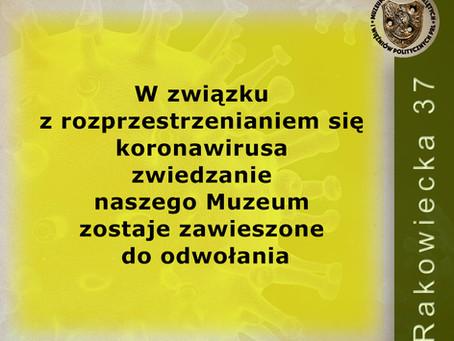 Koronawirus zamyka muzeum dla zwiedzających