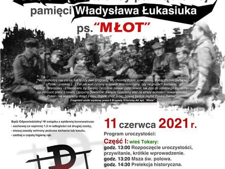"""kpt Władysław Łukasiuk """"Młot"""" - odsłonięcie tablicy"""