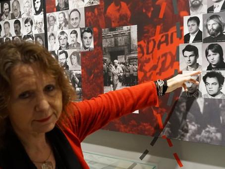 Ludwika Ogorzelec na wystawie Muzeum Solidarności Walczącej