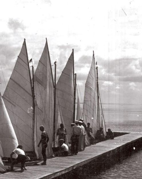 Przystań Żeglarska nad Jeziorem Narocz, lata 30 Fot. NAC