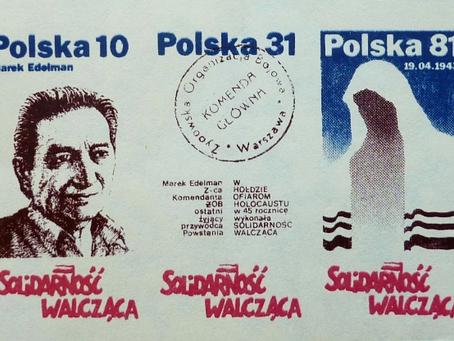 """W 1983 r. """"Solidarność Walcząca"""" uczciła 45 rocznica wybuchu powstania w getcie warszawskim"""