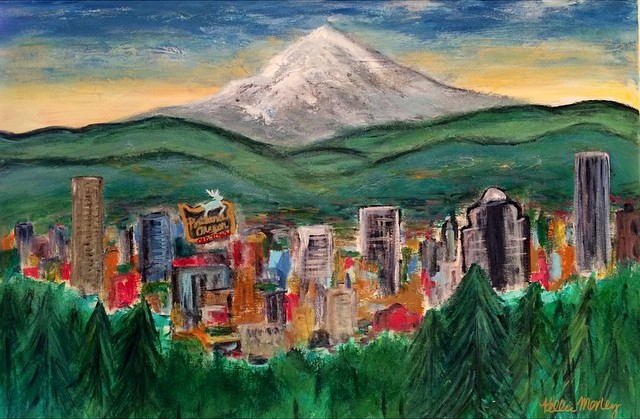City of Roses (Portland Landscape)