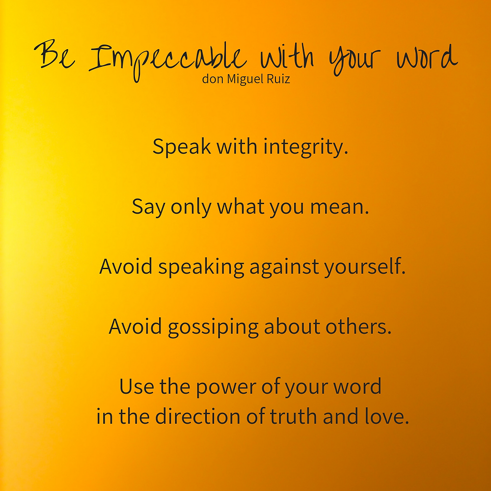 Be Impeccable with Your Word as a Parent