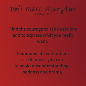 Don't Make Assumptions as a Parent