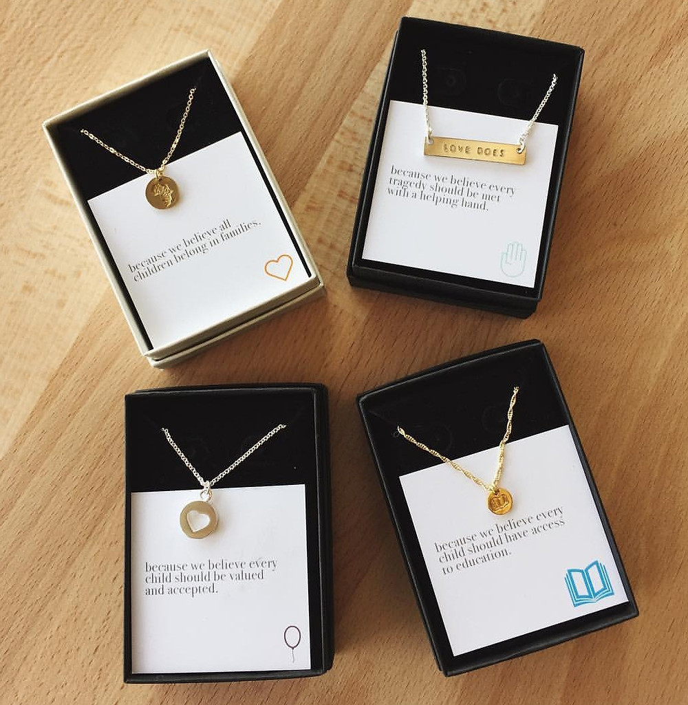 Necklaces that support ophans in Uganda from an adoptive mom
