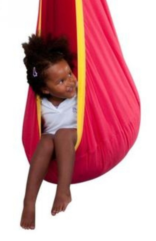 An indoor swing can be a great gift for a foster or adopted child