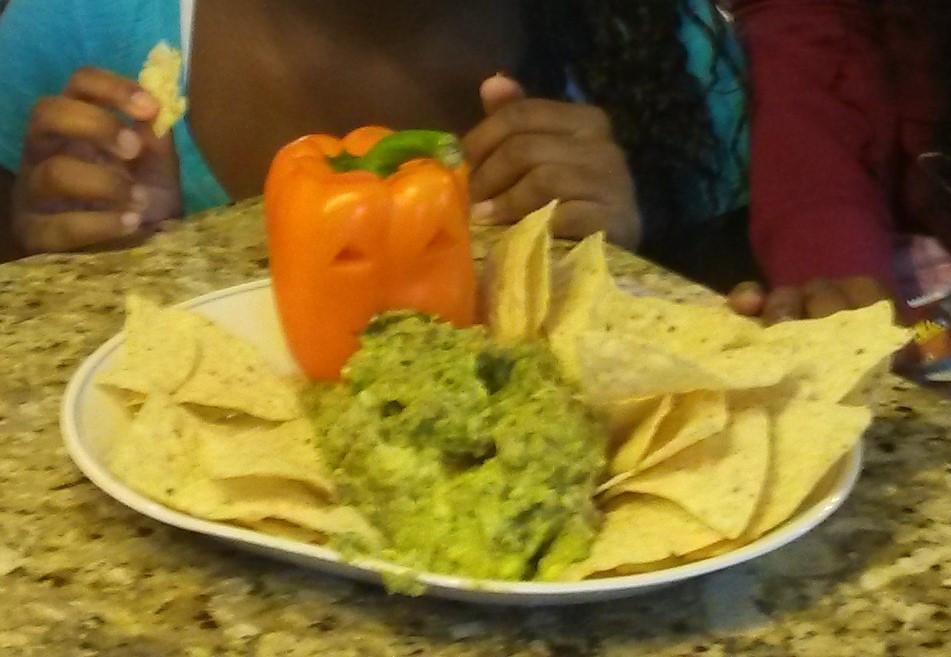 Halloween Snacks Guacamole Puking Pumpkin