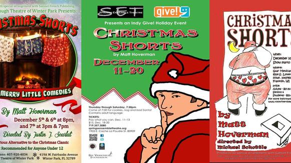 Matt's CHRISTMAS SHORTS on display in 4 regional theaters!