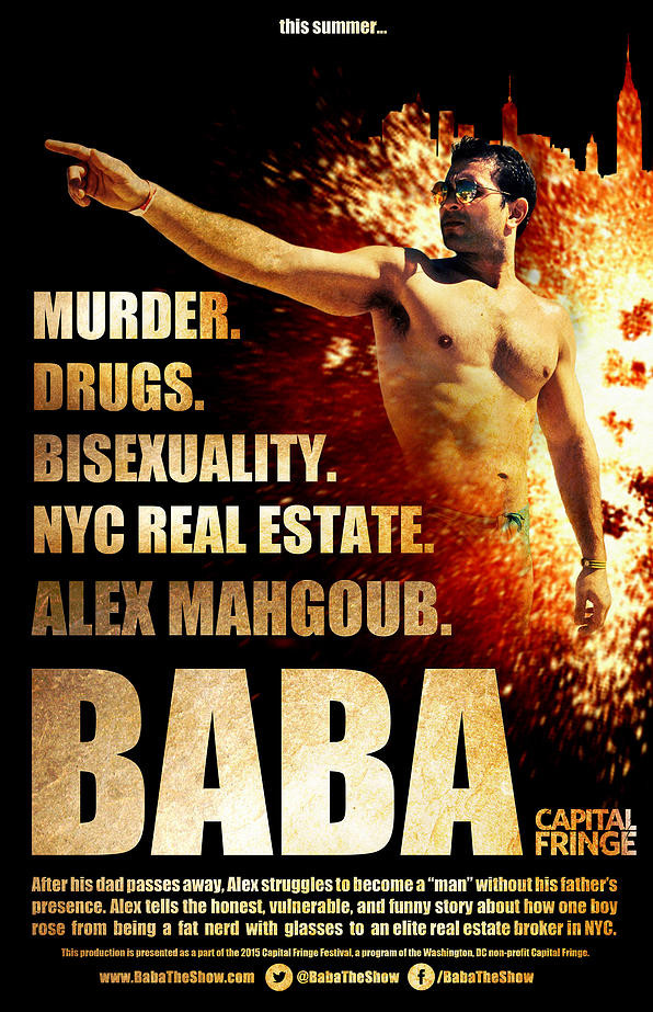 More great reviews for Alex Mahgoub's BABA in Cap Fringe!