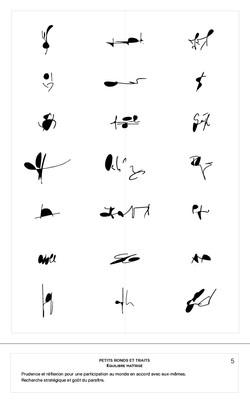 5 Signa petites ronds et traits