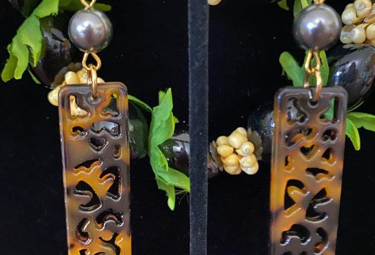 Turtle Shell Faux Hoop Earrings