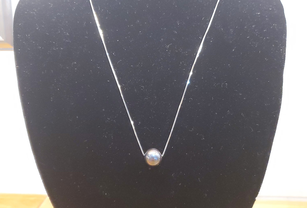 Fresh Water Pearl on Sterling Silver Chain