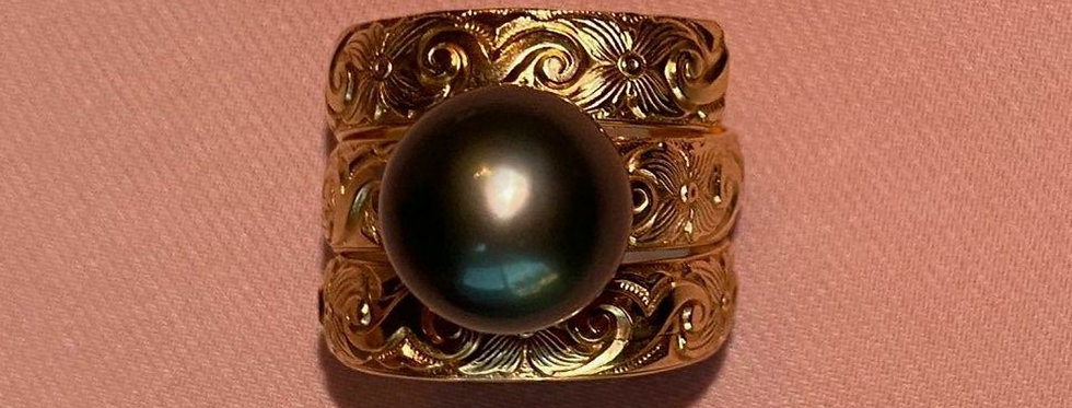 Tahitian Pearl Gold Filled Ring