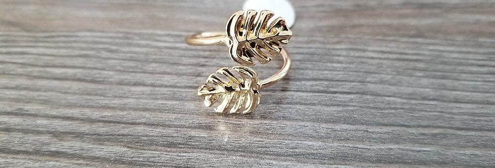 Monstera Adjustable Ring Gold Filled