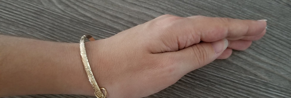 6MM - Adult Heirloom Bangle (14k Gold Filled Bracelet)
