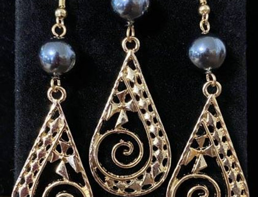 Tribal Tear Earring and Necklace Set