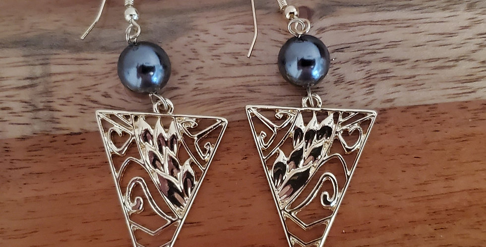 Triangle Heliconia Earrings