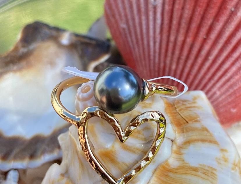 Heart Adjustable Ring Gold Filled Choose Your Color