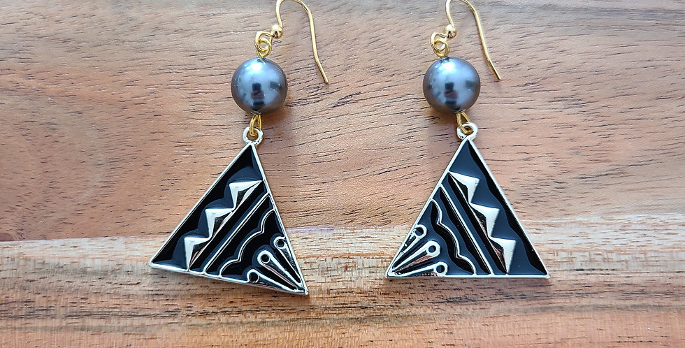 Mauna Mountain Tribal Earrings
