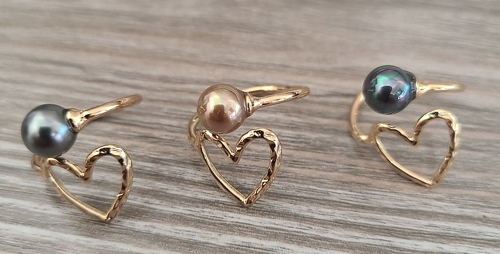 Heart Adjustable Ring Gold Filled