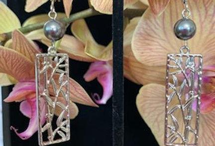Silver Bamboo Earrings
