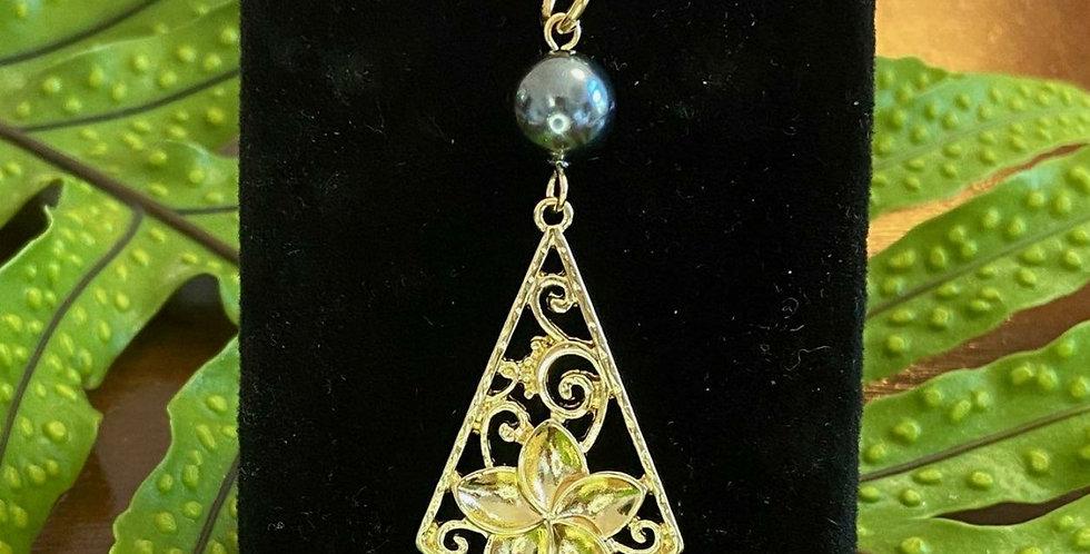 Large Plumeria Diamond Necklace