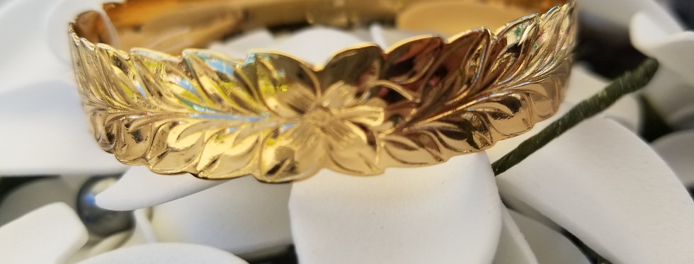 12mm Maile Style Gold Filled Bangle