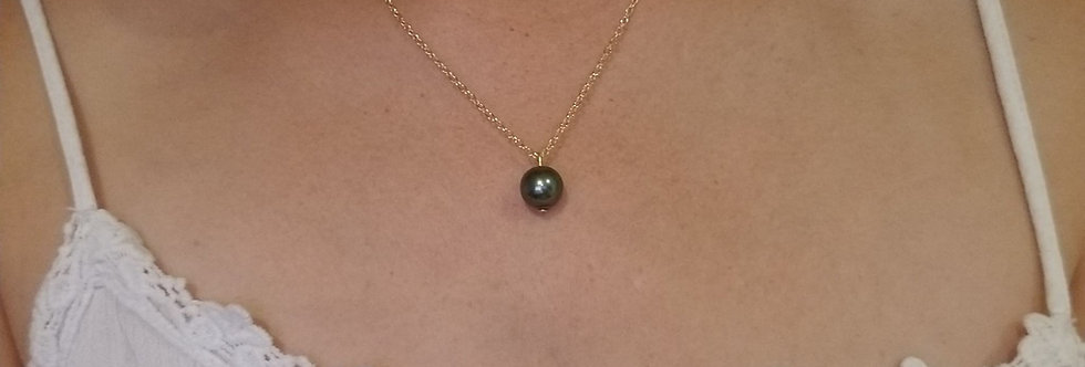 Single Pearl Necklace, Choose Your Color