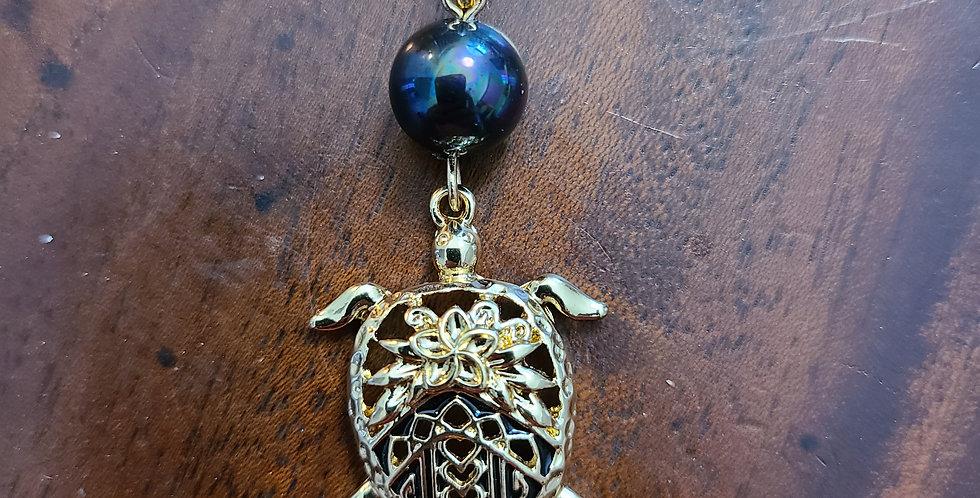 Turtle Back Plumeria Necklace